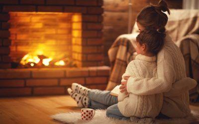 Il calore di un caminetto acceso, il calore di casa tua